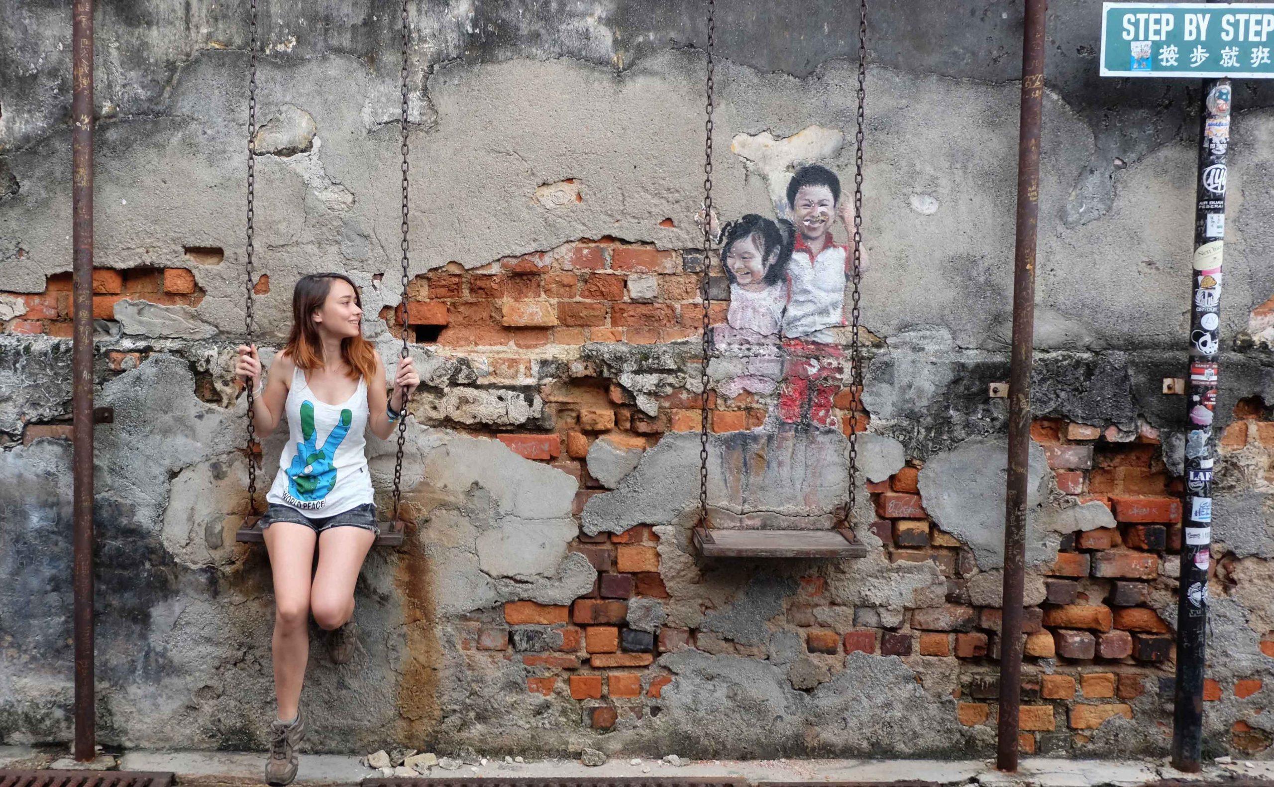 Malezya'nın Sanat Dolu Sokaklarında Kaybolmak- Penang Sokak Sanatı
